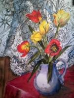 Tulips and lace by Gwen Anderson
