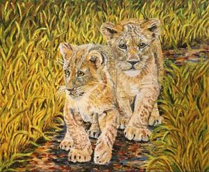 On the Prowl (Finger Painting)