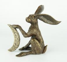 MOON GAZING HARE LTD EDITION BRONZE