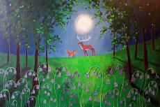 Moonlight Meeting in the Bluebell Wood